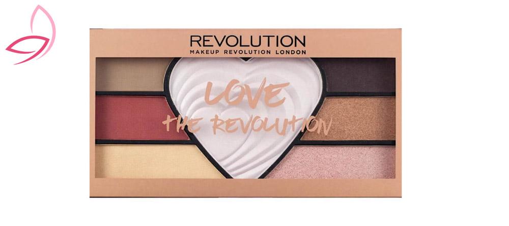 پالت سایه چشم 7 رنگ رولوشن مدل Love