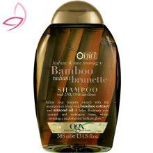 شامپو مو قهوه ای او جی ایکس مدل bamboo brunette حجم ۳۸۵ میلی لیتر