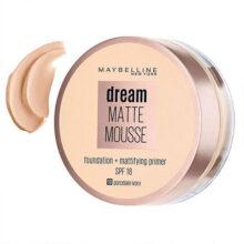 کرم پودر و پرایمر موس میبلین حاوی ضد آفتاب مدل Dream Matte Mousse شماره ۱۰