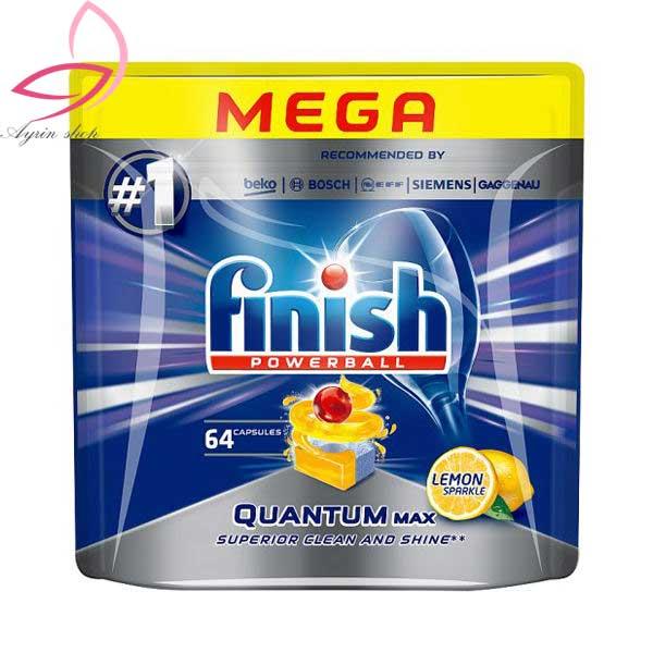 قرص ماشین ظرفشویی فینیش مدل Quantum Max بسته ۶۴ عددی